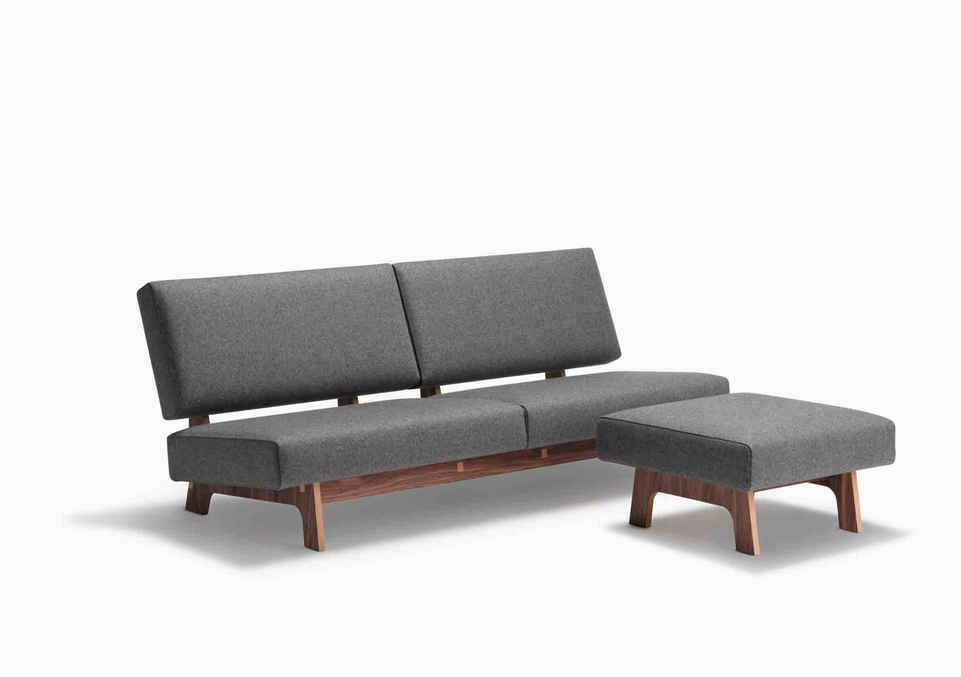 Cool Sofa Und Ottoman Mohr Polster Pabps2019 Chair Design Images Pabps2019Com